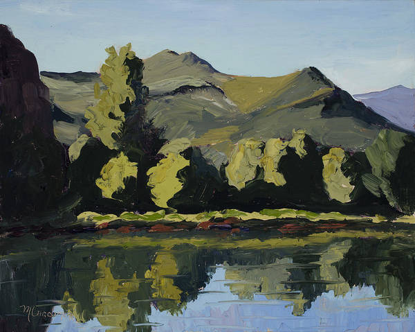 Plein Air Poster featuring the painting Watson Lake by Mary Giacomini