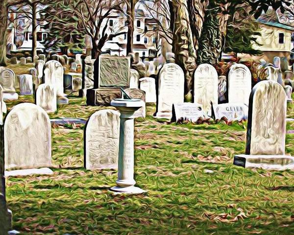 St. James Cemetery Poster featuring the photograph Stjamescem3 by J erik Leiff