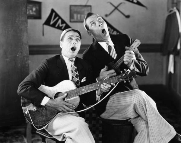 -music- Poster featuring the photograph Silent Film Still: Music by Granger
