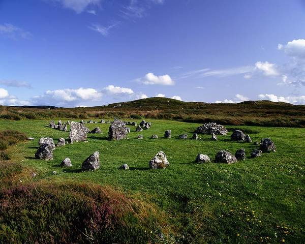 Archeology Poster featuring the photograph Beaghmore Stone Circles, Co. Tyrone by The Irish Image Collection