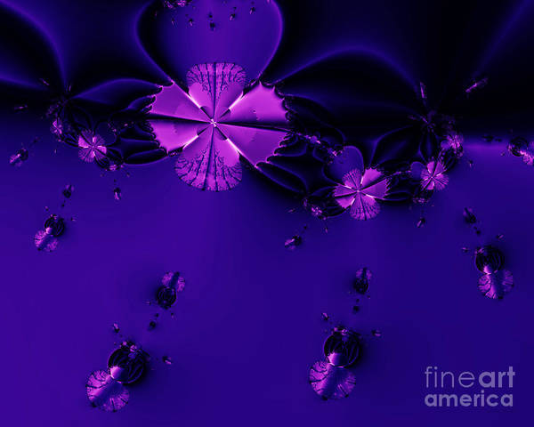 Fractal Poster featuring the digital art Bumble Beez . S19 by Wingsdomain Art and Photography