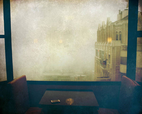 Window Poster featuring the photograph I Just Sat There Staring Out At The Fog by Laurie Search