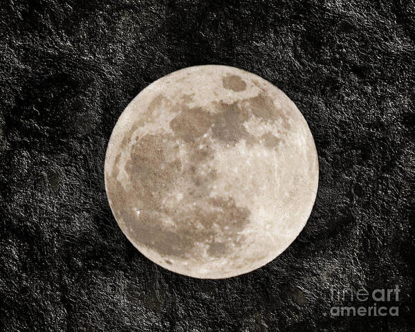 Super Moon Poster featuring the photograph Just A Little Ole Super Moon by Andee Design