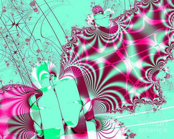 Fractal Poster featuring the digital art Kabuki by Wingsdomain Art and Photography