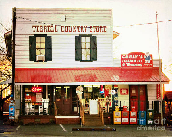 Terrell Country Store Poster featuring the photograph Terrell North Carolina by Kim Fearheiley