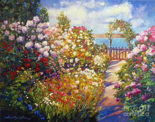 Landscape Poster featuring the painting The Artists Dream Fantasy by David Lloyd Glover