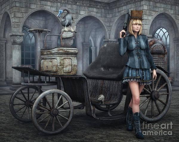 3d Poster featuring the digital art Tough Lady by Jutta Maria Pusl