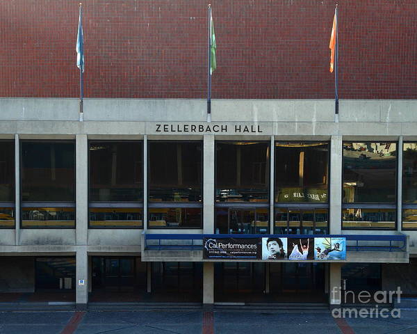 Zellerbach Poster featuring the photograph Uc Berkeley . Zellerbach Hall . 7d10013 by Wingsdomain Art and Photography