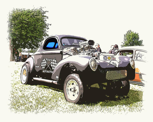Hot Rod Poster featuring the photograph Vintage Willys Gasser by Steve McKinzie