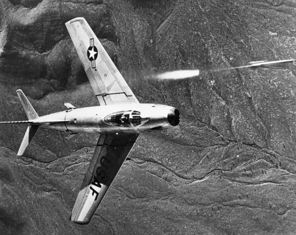 1951 Poster featuring the photograph F-86 Jet Fighter Plane by Granger