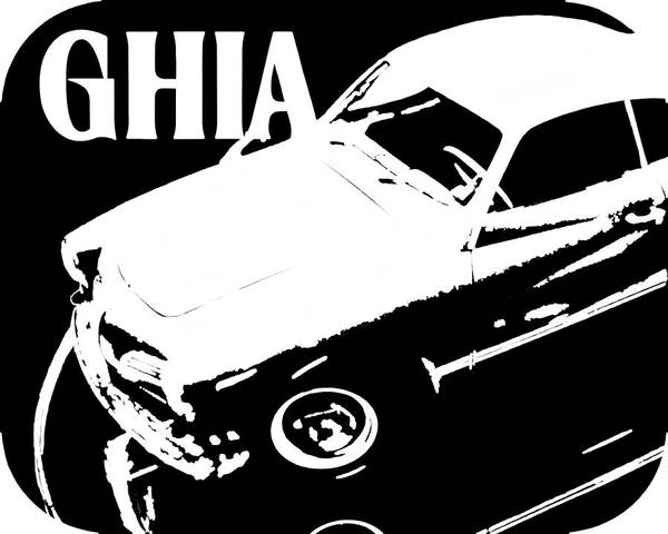 1962 Karmann Ghia Pop Art Tee Poster By David King