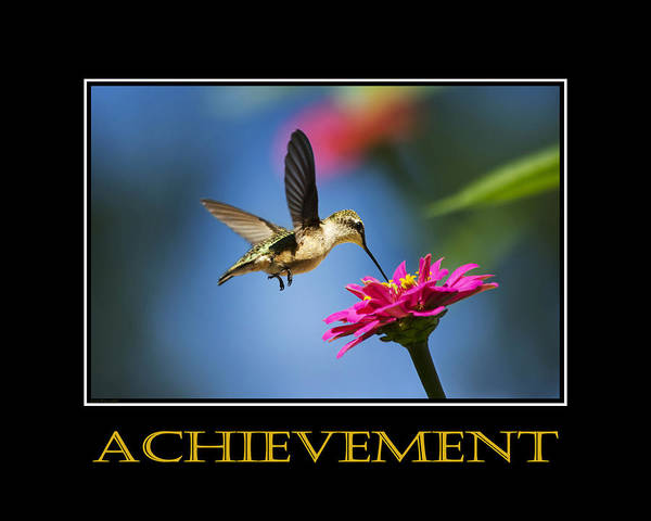 Achievement Poster featuring the photograph Achievement Inspirational Motivational Poster Art by Christina Rollo