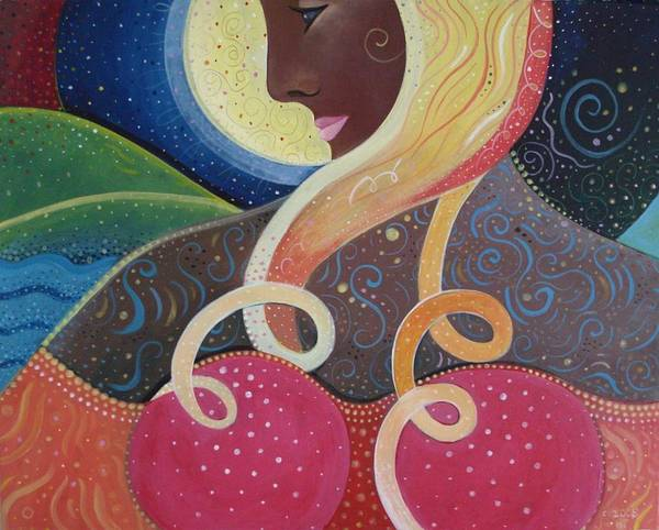 Angel Poster featuring the painting Earth Angel by Helena Tiainen