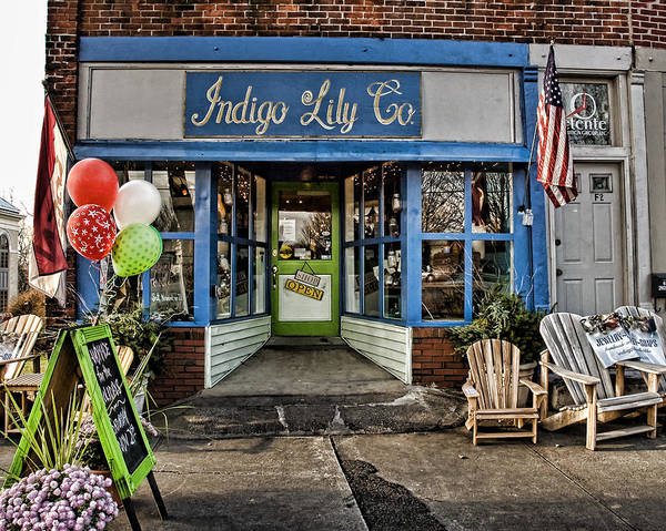 Shop Poster featuring the photograph Indigo Lily by Edward Sobuta