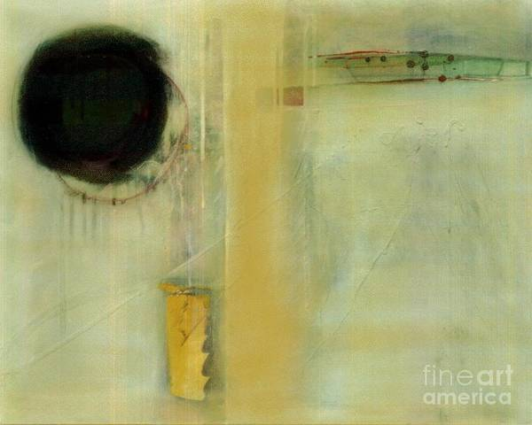 Abstract Poster featuring the painting Ochre Wash Jump by Marlene Burns