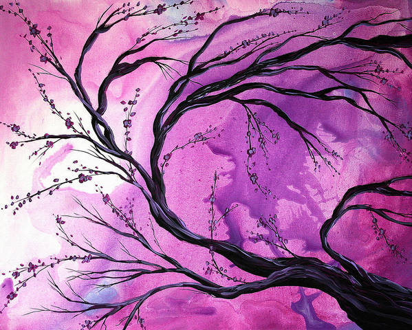 Abstract Poster featuring the painting Passage Through Time By Madart by Megan Duncanson