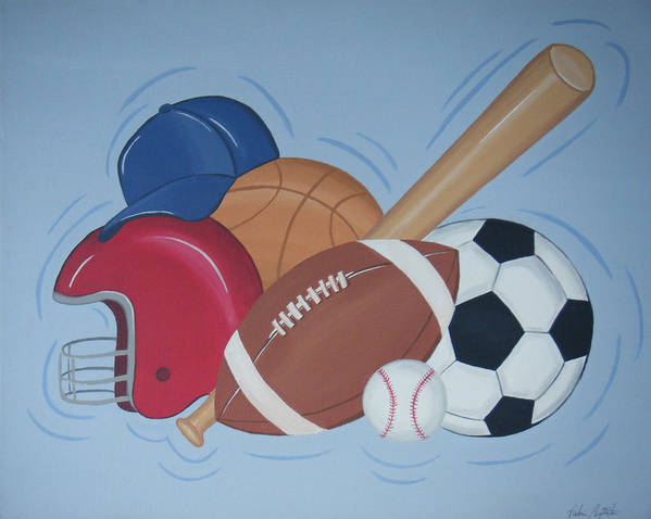 Balls Poster featuring the painting Play Ball by Valerie Carpenter