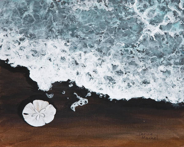 Darice Machel Mcguire Poster featuring the painting Sand Dollar by Darice Machel McGuire