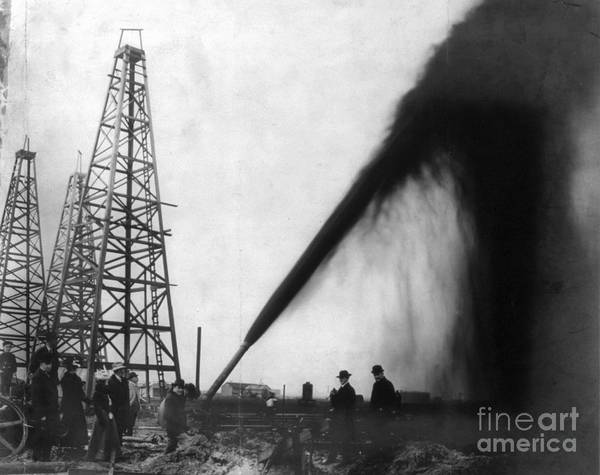 1901 Poster featuring the photograph Texas: Oil Derrick, C1901 by Granger