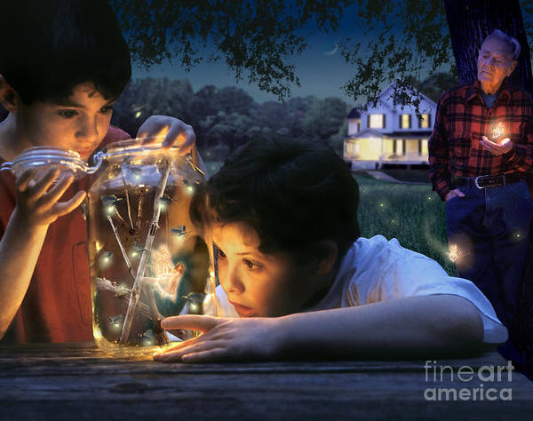 Firefly Poster featuring the photograph Twilight by Bryan Allen
