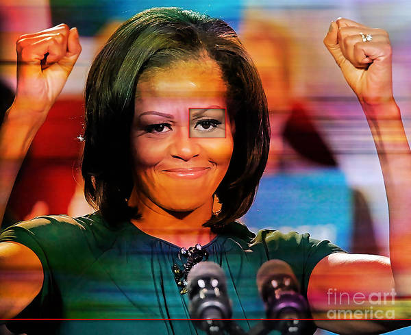 Michelle Obama Photographs Poster featuring the mixed media Michelle Obama by Marvin Blaine