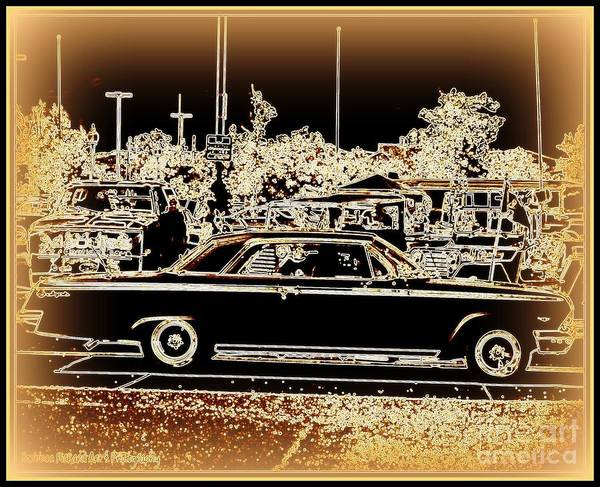 Prints On Canvas Poster featuring the photograph Chevy Glow by Bobbee Rickard
