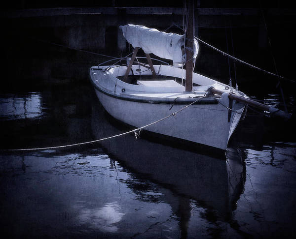 Boat Poster featuring the photograph Moonlight Sail by Amy Weiss