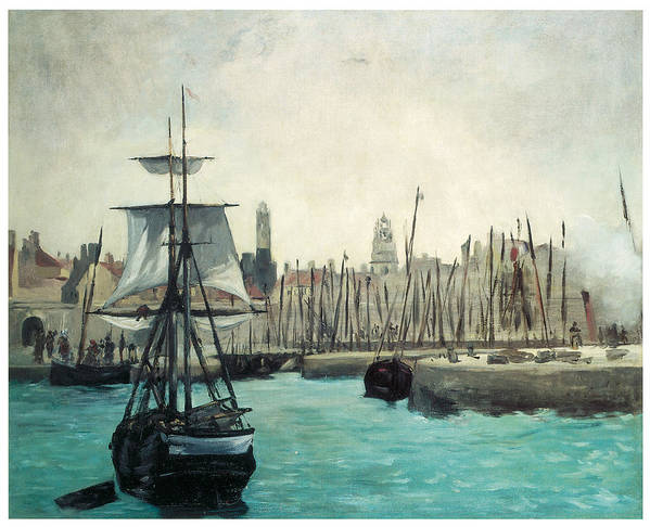 Edouard Manet Poster featuring the painting The Port At Calais by Edouard Manet