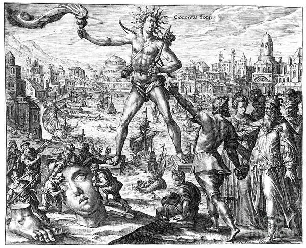 3rd Century B. C. Poster featuring the photograph Colossus Of Rhodes by Granger