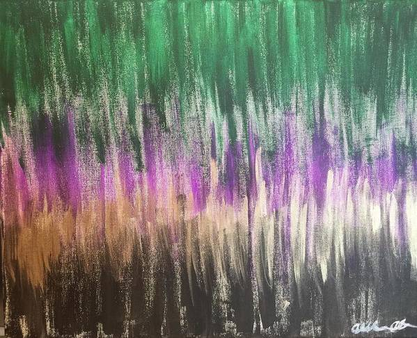 Abstract Poster featuring the painting Aurora by Alisha Anglin