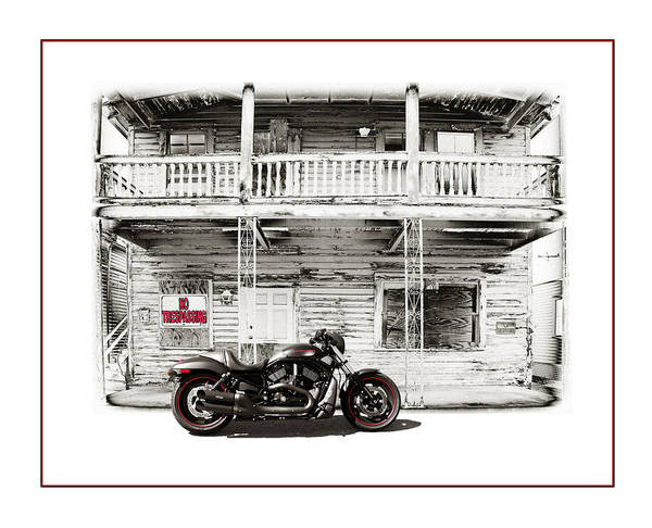 Harley Poster featuring the photograph No Trespassing by Mal Bray