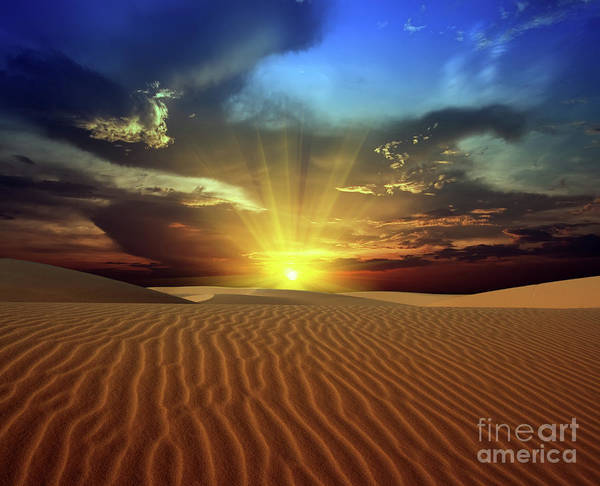 Dunes Poster featuring the photograph Sandy Desert by MotHaiBaPhoto Prints