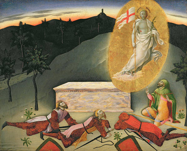 The Poster featuring the painting The Resurrection by Master of the Osservanza