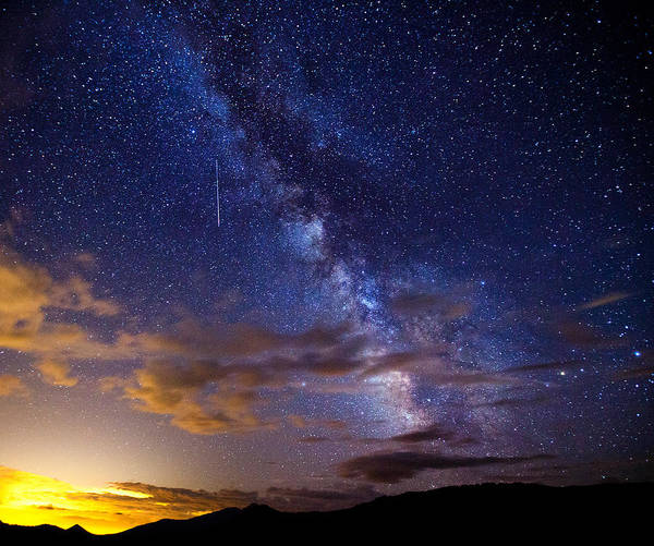 Milky Way Poster featuring the photograph Cosmic Traveler by Darren White