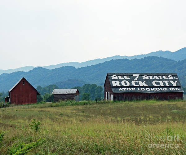 Tennessee Poster featuring the photograph Tennessee Barn by Roger Potts