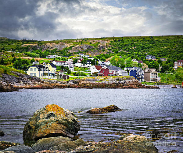 Fishing Poster featuring the photograph Fishing Village In Newfoundland by Elena Elisseeva