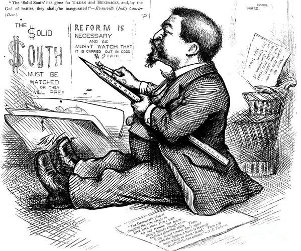 1876 Poster featuring the photograph Thomas Nast (1840-1902) by Granger