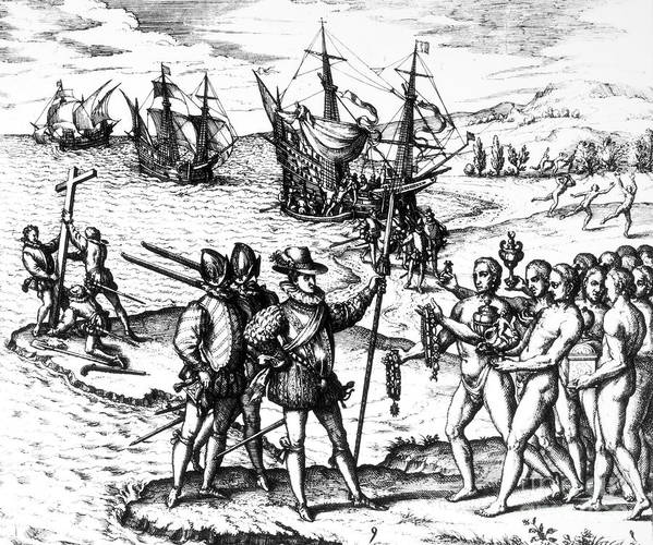 1492 Poster featuring the photograph Christopher Columbus by Granger