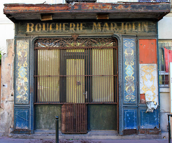 Paris Poster featuring the photograph Boucherie Marjolin by Andrew Fare