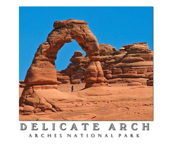 Delicate Arch Poster featuring the photograph Delicate Arch by PMG Images