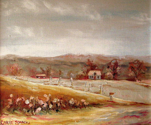 Landscape Poster featuring the painting Eastern Townships Quebec Painting by Carole Spandau