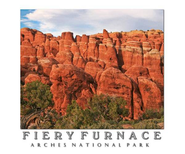 Fiery Furnace Poster featuring the photograph Fiery Furnace by PMG Images