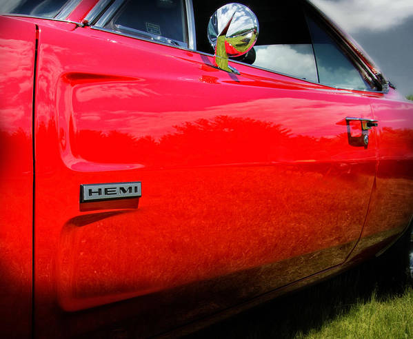 Hemi Poster featuring the photograph Hemi Charger by Thomas Schoeller