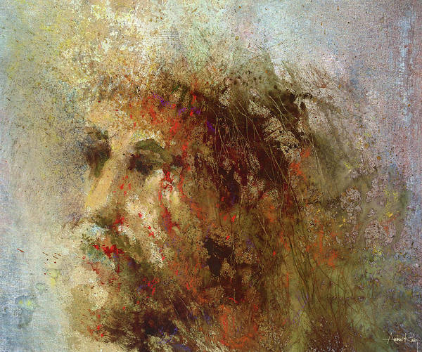 Religious Poster featuring the painting The Lamb by Andrew King