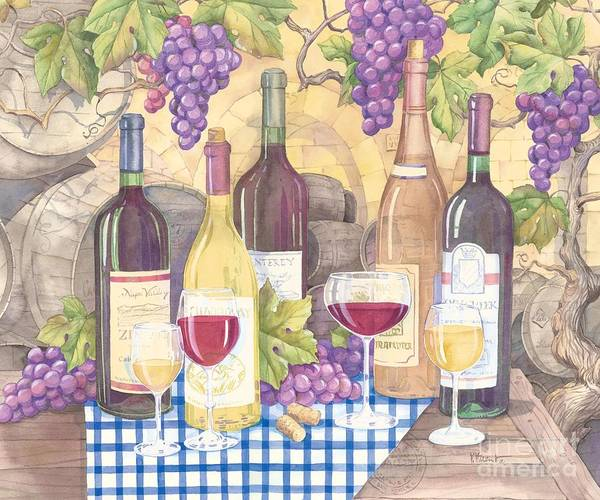 Vintage Poster featuring the painting Vintage Wine I by Paul Brent