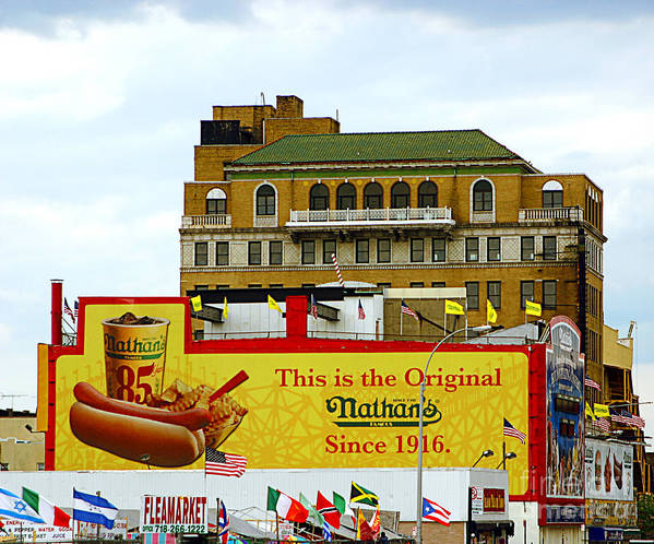 Food Poster featuring the photograph Coney Island Memories 9 by Madeline Ellis