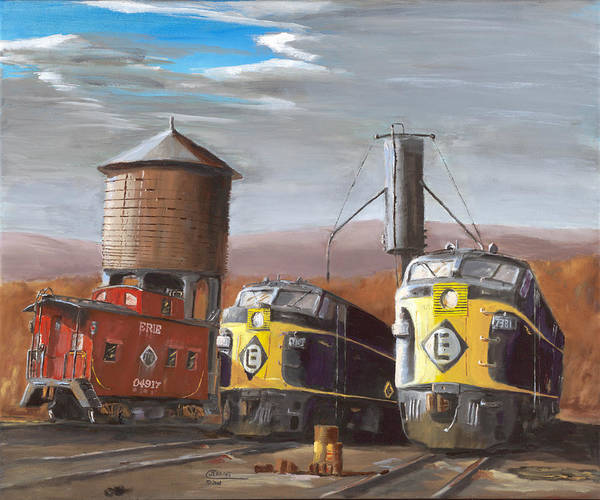 Erie Poster featuring the painting El Power by Christopher Jenkins