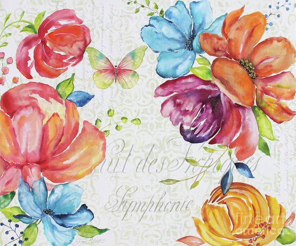 Floral Poster featuring the painting Floral Symphonie by Jean Plout