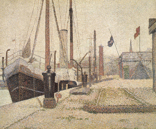 La Maria At Honfleur Poster featuring the painting La Maria At Honfleur by Georges Pierre Seurat