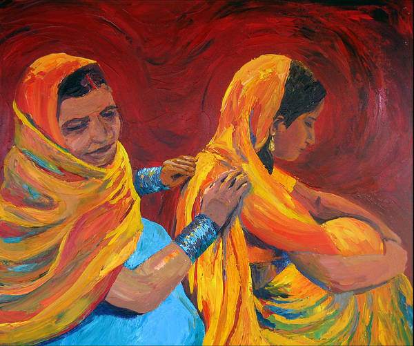 India Poster featuring the painting Ruppa by Art Nomad Sandra Hansen